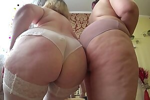 Prurient foreplay be advisable for two mature lesbians with fat asses, puristic undressing and caress.
