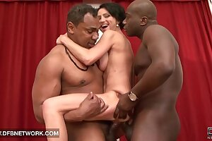 Of age Rough Double Fucked Likes Big Black Cocks In Pussy And Hard Anal