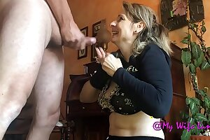 Mature maid gets her ass licked