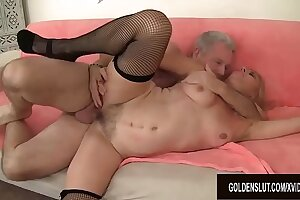 Mature Blonde Cristine Rubicund Takes a Hardcore Pounding