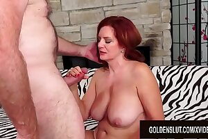 Redheaded Mature Spoil Andi James Has Torrid Sex with a Passionate Old Man