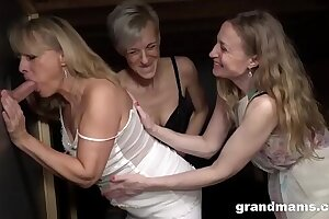 Triple Blonde Granny Orgy