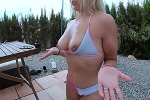 I exclusively kept milking and got THREE LOADS in the sky my tits - happy MILF huge Cumshot - YummyCouple