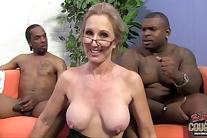 Two black guys are in love with their granny tutor