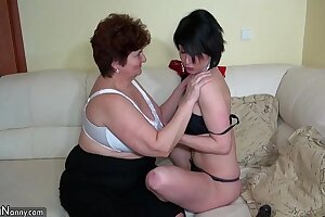 Oldnanny old fat grannies masturbating and enjoying with young cooky