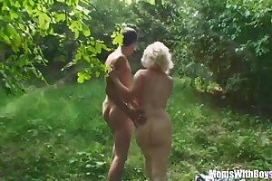 Blonde Matriarch Jana Receives Rough Fucking Outdoors