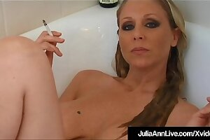 Hot Busty Milf Julia Ann Smokes Cigs Nude Fro Bathtub!