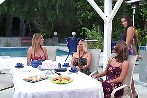 What Happens in Rich Luxury MILF Moms Tea Parties as the crow flies Husbands are Away