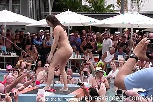 wild milfs stripping down naked fro pool hot body stripe contest