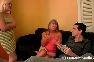 Desperate Deception Mother and Sister Fifi Foxx Fuck Brother for Cash