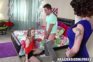Brazzers - Mother and feign daughter share big cock