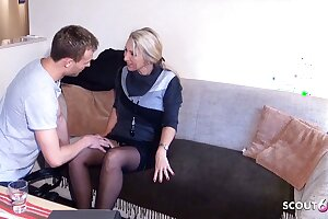 German MILF Brooker Seduce to Fuck by Young Guy be proper of Contract