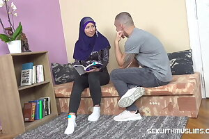 Sexy muslim teacher gives bowels lesson