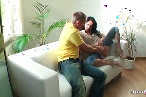 German MILF Concealed Cam Fuck in Crotchless Jeans off out of one's mind Young Guy