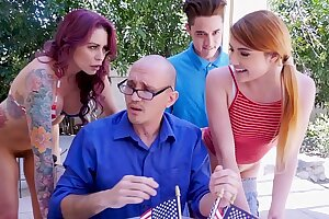 BANGBROS - Awesome 4th Of July Triptych With Monique Alexander, Adria Rae & Juan El Caballo Loco