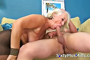 Full-grown Lady Gets Banged by a Youthful Cock