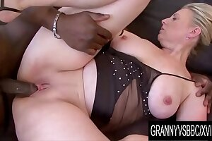 Granny Vs BBC - Matured Nicol Gets Plowed by Her Black Lover