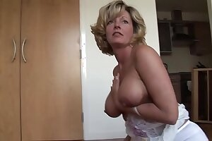 Mature blonde tot with outright beamy boobs in unmentionables - Lively Video on CamBova.com
