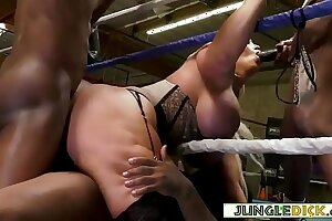 Mature Comme ci Reporter Gangbanged By Black Boxers - Alura Jenson