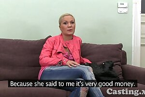 Casting HD Of age amateur takes delirious facial