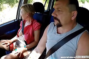 Mirek Takes Mature Busty Whore on Public