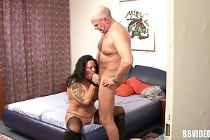 Stockinged mature german whore less cock